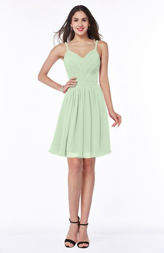 Sexy A-line Sleeveless Chiffon Mini Ribbon Plus Size Bridesmaid Dresses
