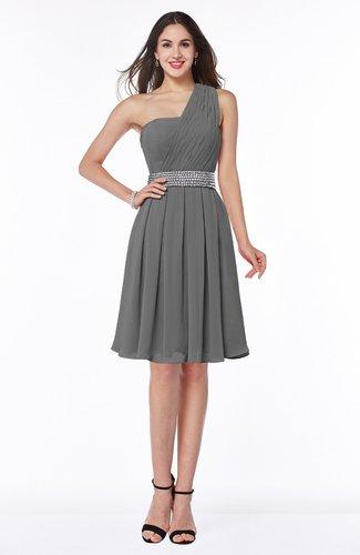 Modern Sleeveless Half Backless Chiffon Knee Length Pleated Plus Size Bridesmaid Dresses