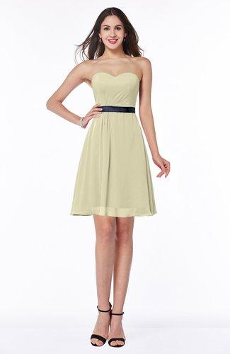Elegant Sweetheart Sleeveless Chiffon Short Ribbon Bridesmaid Dresses