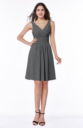 Modern Thick Straps Sleeveless Zip up Chiffon Plus Size Bridesmaid Dresses