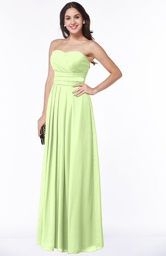 Simple A-line Sleeveless Chiffon Floor Length Plus Size Bridesmaid Dresses