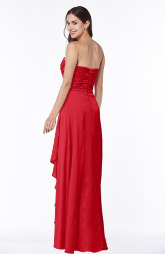 Red Modern Sweetheart Sleeveless Floor Length Ruching Plus Size