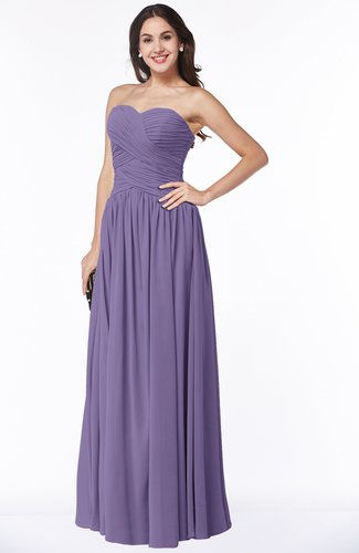 Traditional A-line Sweetheart Sleeveless Floor Length Plus Size Bridesmaid Dresses