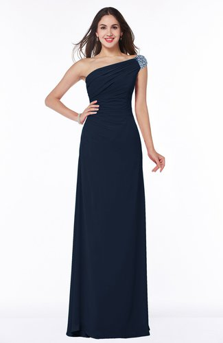 Simple A-line Asymmetric Neckline Sleeveless Half Backless Floor Length Plus Size Bridesmaid Dresses