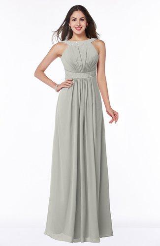 Platinum Modest A Line Sleeveless Zip Up Chiffon Sash Plus Size
