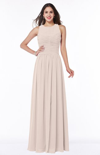 Silver Peony Elegant A Line Sleeveless Zipper Chiffon Plus Size