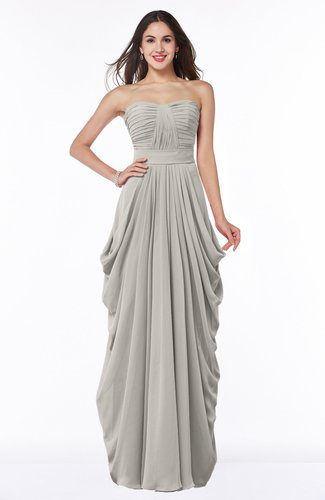 Ashes Of Roses Cinderella Half Backless Chiffon Floor Length Ruching