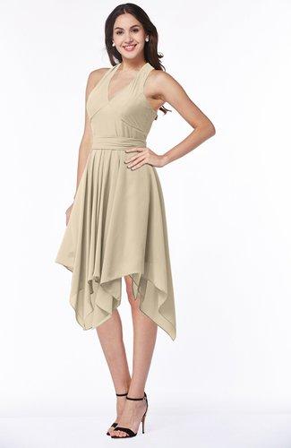 Plain V-neck Sleeveless Half Backless Ribbon Plus Size Bridesmaid Dresses
