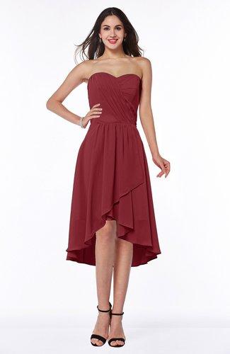 Mature A-line Sleeveless Zip up Ruching Plus Size Bridesmaid Dresses