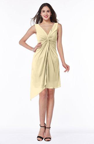 Cute A-line Sleeveless Chiffon Ruching Plus Size Bridesmaid Dresses