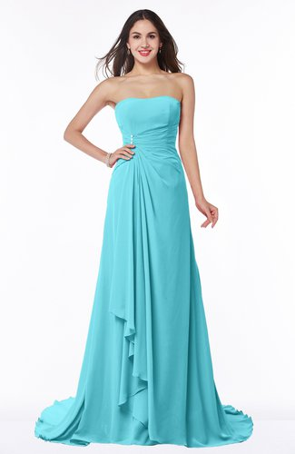 Vintage A-line Sleeveless Sweep Train Rhinestone Plus Size Bridesmaid Dresses