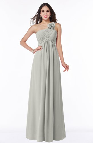Informal Empire One Shoulder Sleeveless Chiffon Plus Size Bridesmaid Dresses