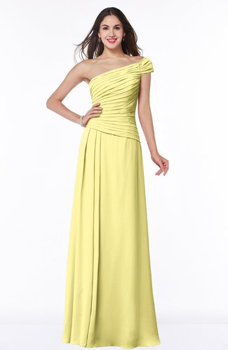 Daffodil modern a line one shoulder sleeveless floor length plus size