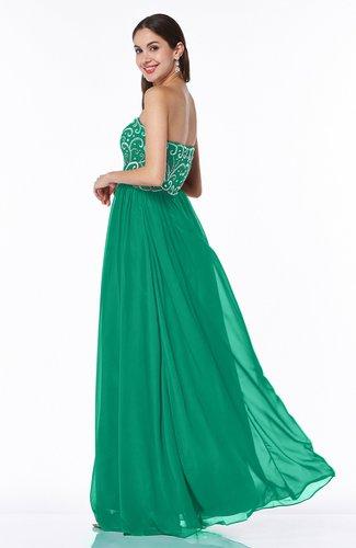 Pepper Green Sexy A Line Strapless Chiffon Rhinestone Plus Size Prom