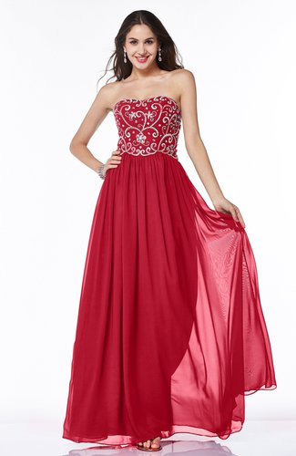 Sexy A-line Strapless Chiffon Rhinestone Plus Size Prom Dresses