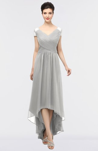 Mature A-line Short Sleeve Floor Length Beading Bridesmaid Dresses