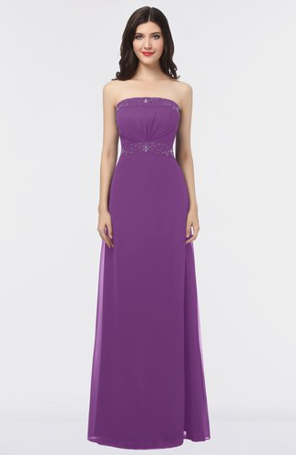 Mature Sleeveless Criss-cross Straps Floor Length Appliques Bridesmaid Dresses