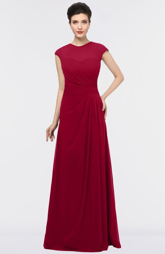 Elegant Jewel Short Sleeve Zip up Floor Length Mother of the Bride Dresses