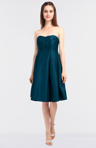 Elegant A-line Sleeveless Zip up Knee Length Bridesmaid Dresses