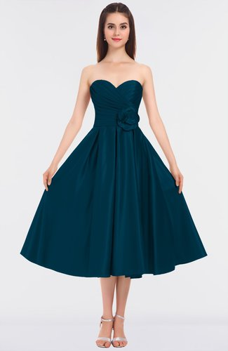 Gorgeous A-line Strapless Sleeveless Zip up Ruching Bridesmaid Dresses