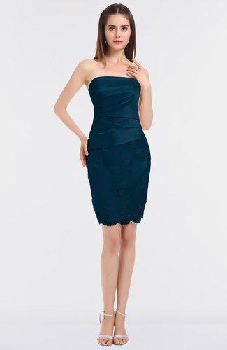 Glamorous Sheath Bateau Sleeveless Mini Embroidery Homecoming Dresses