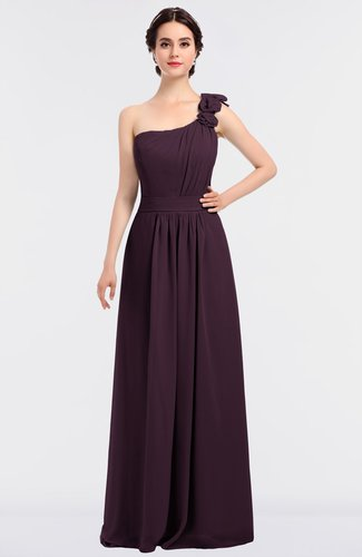 Mature A-line Sleeveless Zip up Floor Length Flower Bridesmaid Dresses