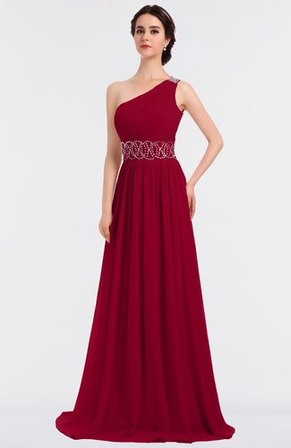 Elegant A-line Sleeveless Floor Length Appliques Evening Dresses