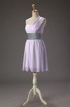 Cute A-line One Shoulder Sleeveless Chiffon Pleated Wedding Guest Dresses