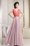 Vintage A-line Sleeveless Zipper Floor Length Pleated Prom Dresses