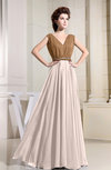 Vintage A-line Sleeveless Zip up Chiffon Pleated Prom Dresses