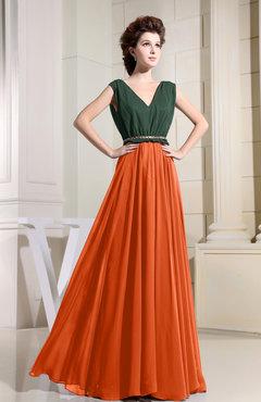 Tangerine Bridesmaid Dresses - Qi Dress