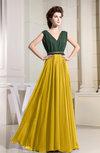 Antique A-line Sleeveless Chiffon Floor Length Bridesmaid Dresses