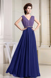 Antique A-line V-neck Sleeveless Zipper Prom Dresses