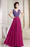 Antique A-line V-neck Sleeveless Zipper Prom Dresses