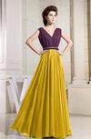 Elegant A-line Sleeveless Chiffon Floor Length Bridesmaid Dresses