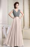 Vintage A-line V-neck Floor Length Pleated Bridesmaid Dresses