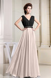 Informal A-line Chiffon Floor Length Pleated Evening Dresses