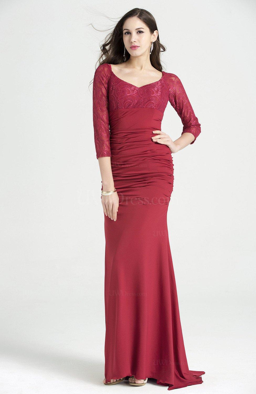 Elegant Sweetheart 3 4 Length Sleeve No Hi Lo Ruching Plus