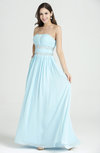 Classic A-line Strapless Sleeveless Chiffon Rhinestone Plus Size Prom Dresses