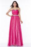 Modern A-line Sweetheart Chiffon30 Floor Length Plus Size Prom Dresses
