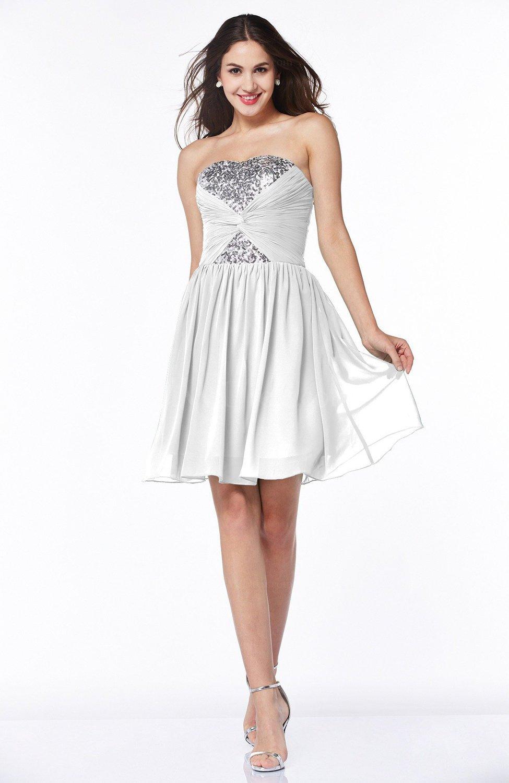 White hawaiian a line strapless sleeveless chiffon short for Plus size hawaiian wedding dresses