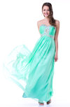 Romantic A-line Sweetheart Sleeveless Chiffon30 Floor Length Plus Size Prom Dresses