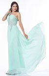 Classic A-line One Shoulder Sleeveless Half Backless Chiffon Plus Size Prom Dresses