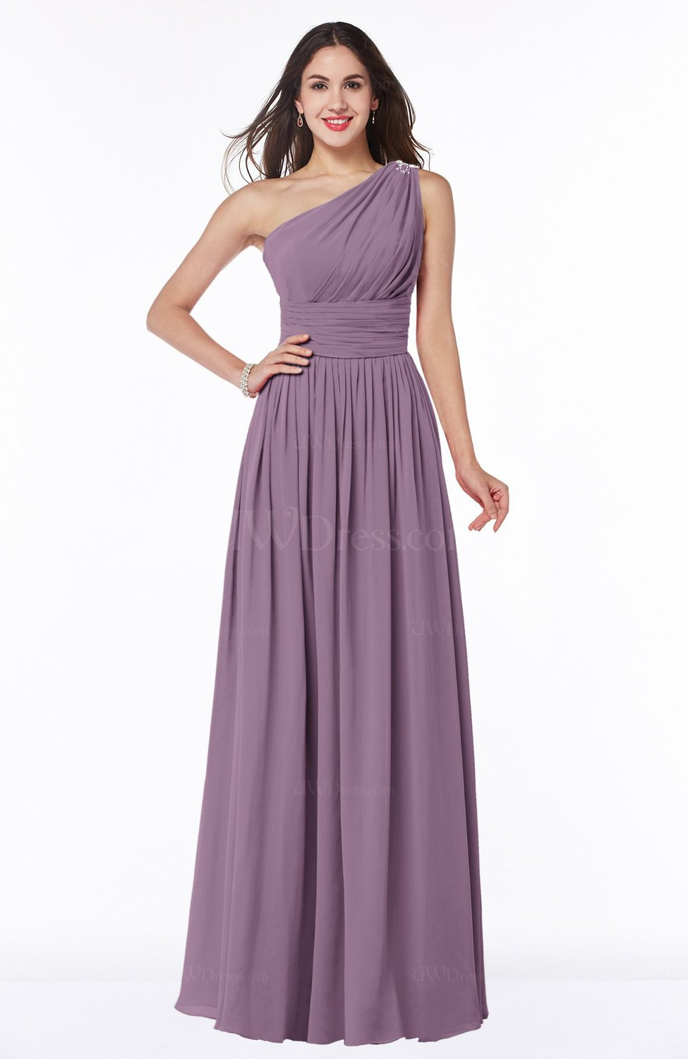 Valerian traditional a line one shoulder sleeveless chiffon floor traditional a line one shoulder sleeveless chiffon floor length plus size bridesmaid dresses ombrellifo Gallery