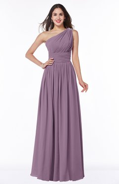 Valerian Traditional A Line One Shoulder Sleeveless Chiffon Floor Length Plus Size Bridesmaid Dresses