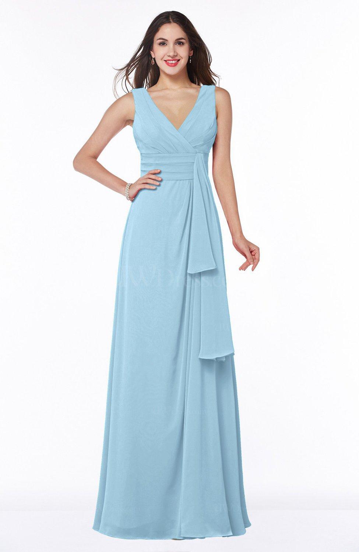 ice blue vintage sleeveless zipper floor length sash plus size bridesmaid dresses. Black Bedroom Furniture Sets. Home Design Ideas