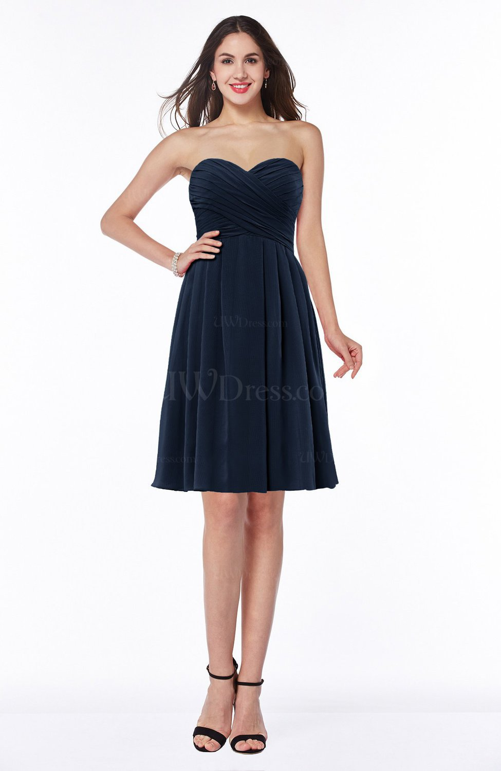 Cute Strapless Zipper Chiffon Ruching Plus Size Bridesmaid Dresses