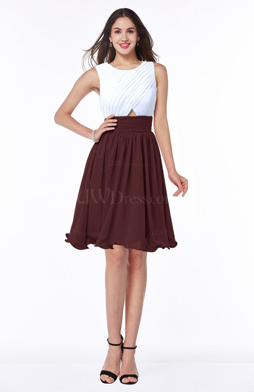 Burgundy cute a line sleeveless zipper chiffon ruching for Burgundy wedding dresses plus size