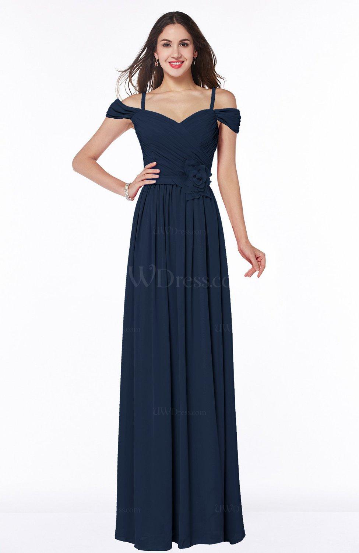 Navy blue gorgeous a line off the shoulder short sleeve for Plus size off the shoulder wedding dress