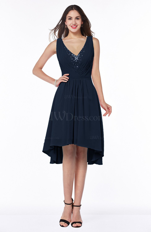 Navy blue elegant a line sleeveless zip up rhinestone plus for Navy plus size dress for wedding